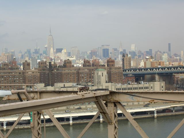 Manhattan Skyline von der Brooklyn Bridge